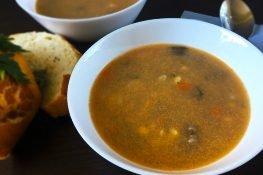 Rich beef soup