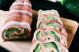 Cucumber and Parma ham roulade