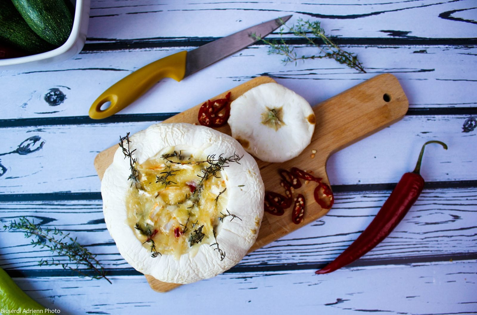 Summer squash baked with cheese