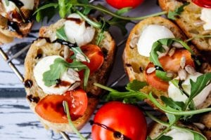 Tomato and mozzarella cold snack