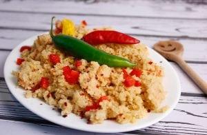 Biryani cauliflower with Indian spices