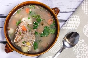 Krupnik soup with barley groat