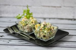 Waldorf salad with sweetcorn