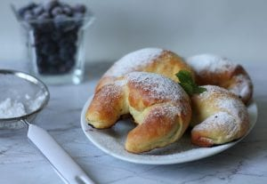 Croissants with blueberries