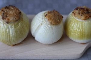 onions stuffed with chicken meat