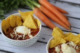 Chilli con carne with meat and veg