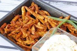 Baked celeriac fries