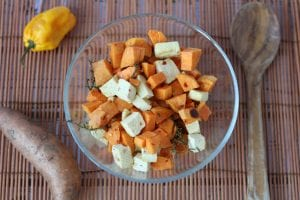 tofu and sweet potato dish
