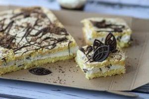 Sponge cake with bird's milk chocolate
