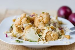 Vegan cauliflower salad