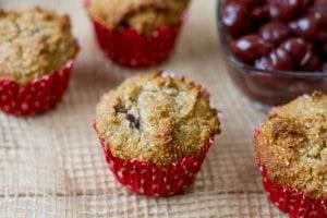 muffiny z kokosem i czereśniami