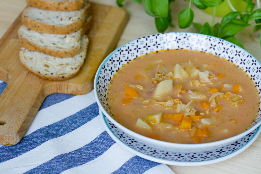 Soup from cabbage
