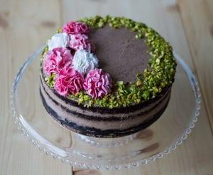 ciasto czekoladowe z pistacjami