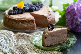 Chocolate cheesecake with chocolate mousse