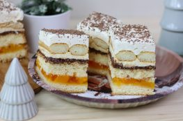 Cake with Nutella and peach