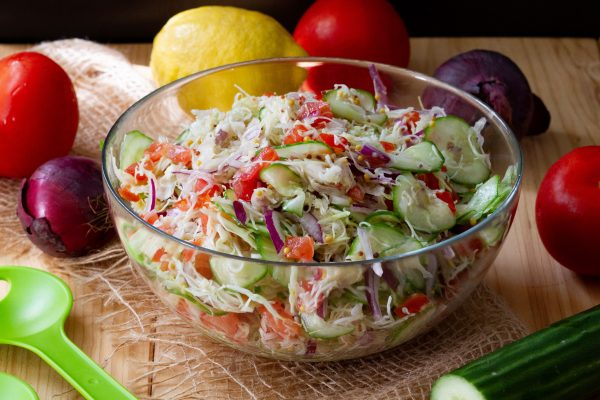 Cabbage salad with vegetables
