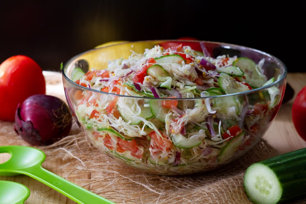 New cabbage and cucumber salad