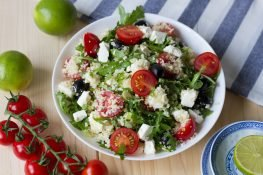 Couscous salad with tomatoes
