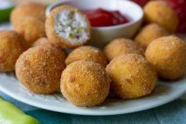 Cheese balls with chili