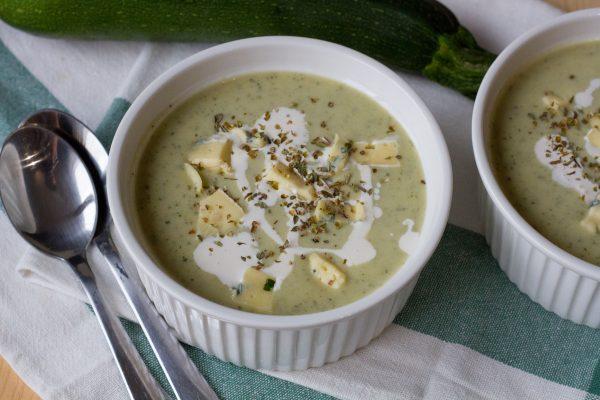 Zucchini and oregano soup