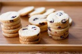 Coconut cookies with cranberries