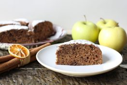 Apple cake with chocolate