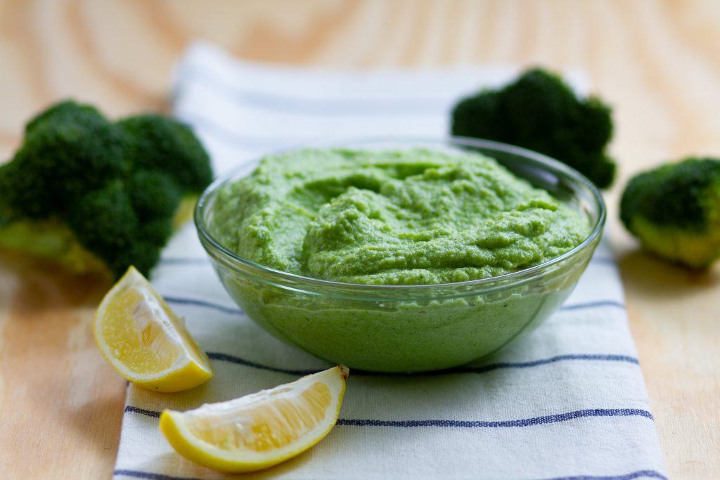 Broccoli and cream purée