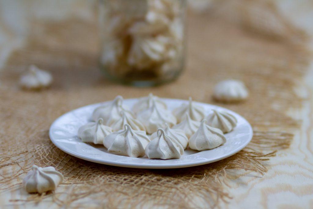 Egg whites and sugar meringues