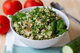 Bulgur Tabbolueh with tomato and cucumber