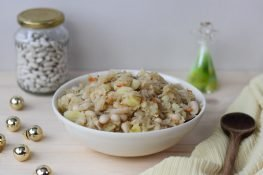 Cooked sauerkraut with beans