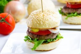 Burgers with homemade buns