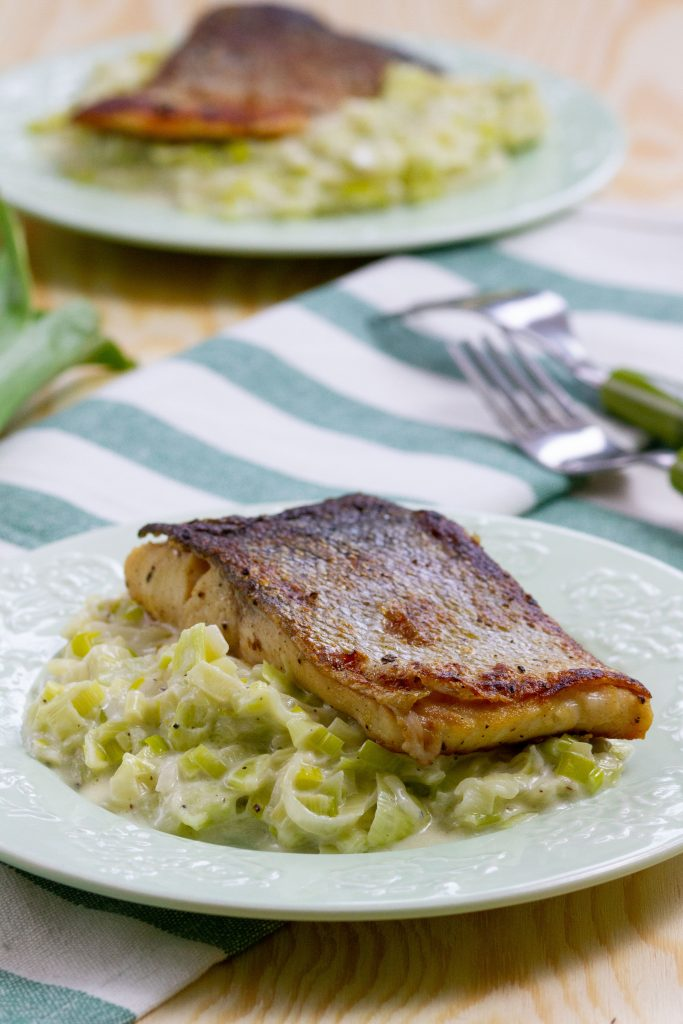 Fish with leek