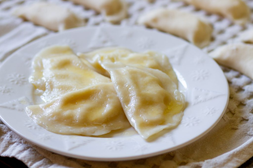 Pierogis with cheese