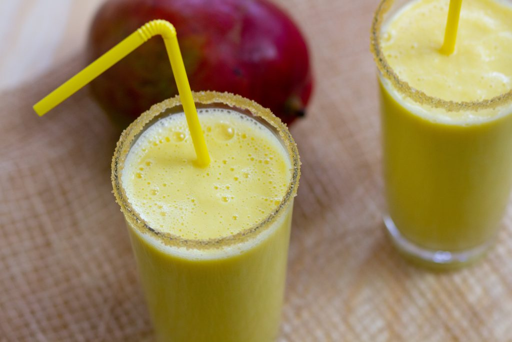 Lassi with mango and joghurt