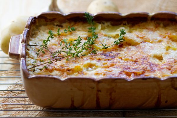 Baked potato gratin