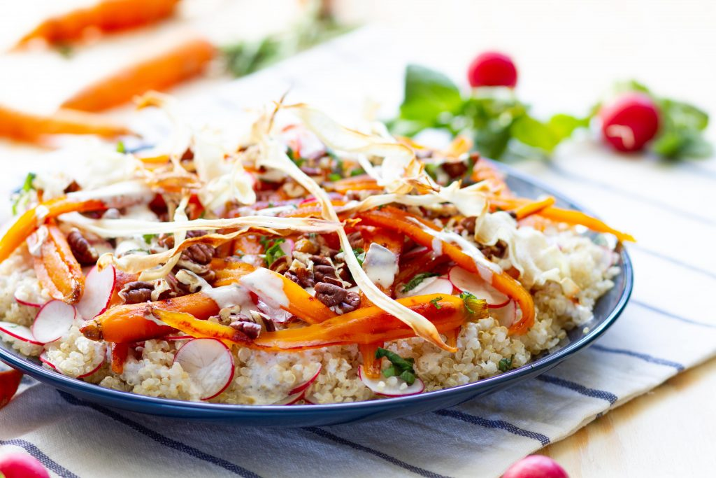 Carrot and quinoa salad