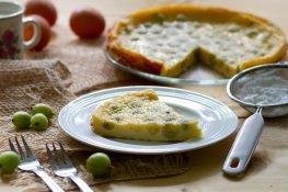 Claofouis dessert with gooseberry