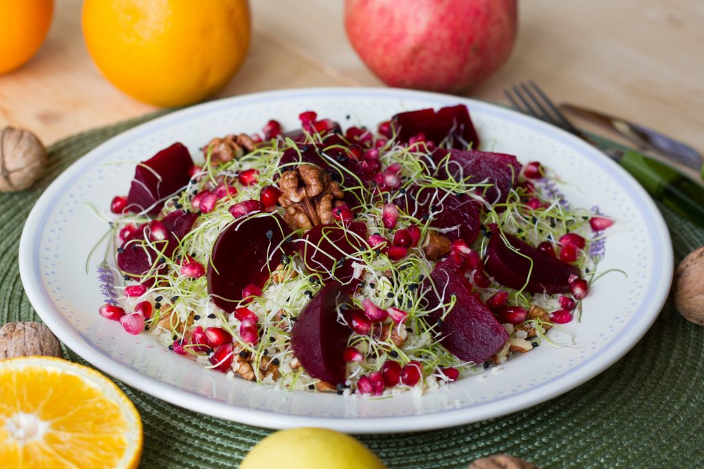 Beets and couscous salad