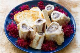 Bone marrow baked in the oven