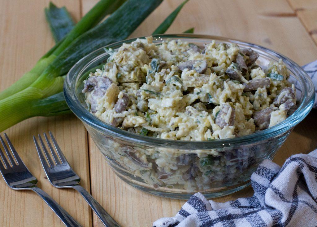 Mushroom and artichoke salad