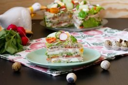 Vegetable and ham cake