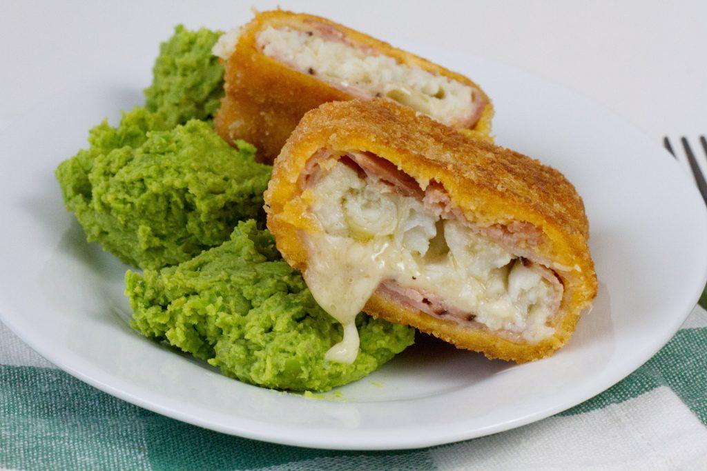 Cordon bleu with fish and ham