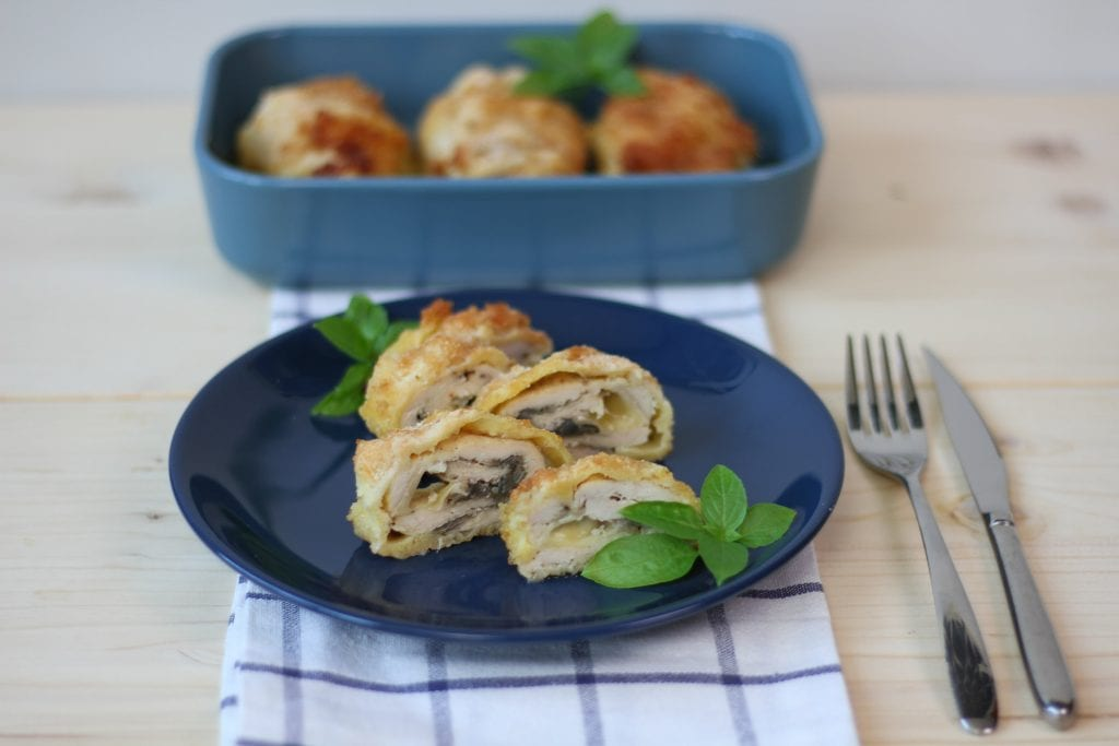 Chicken roulades with cheese