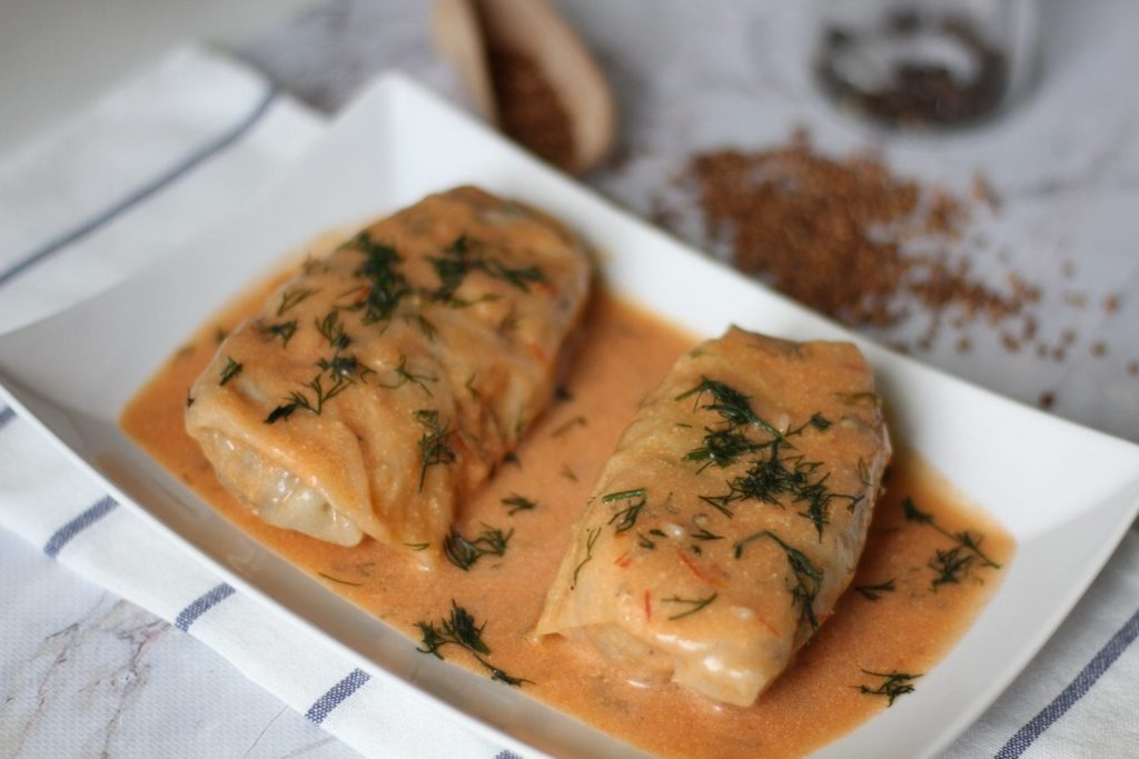 Cabbage rolls with groats and meat