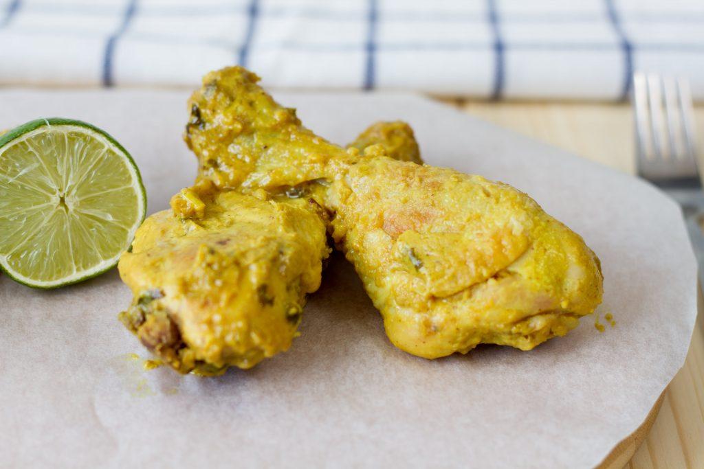 Chicken satay with marinate