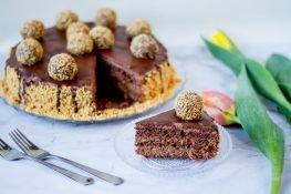 Ferrero Rocher with chocolate cream