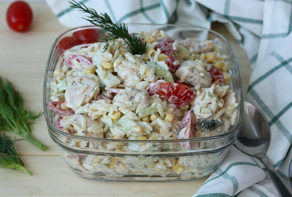 Orzo salad with chicken