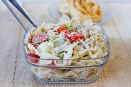Pasta and chicken salad