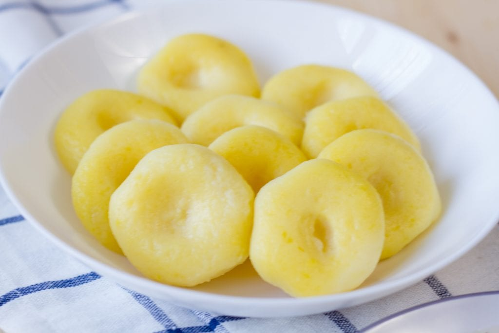 Dumplings made from potatoes and flour