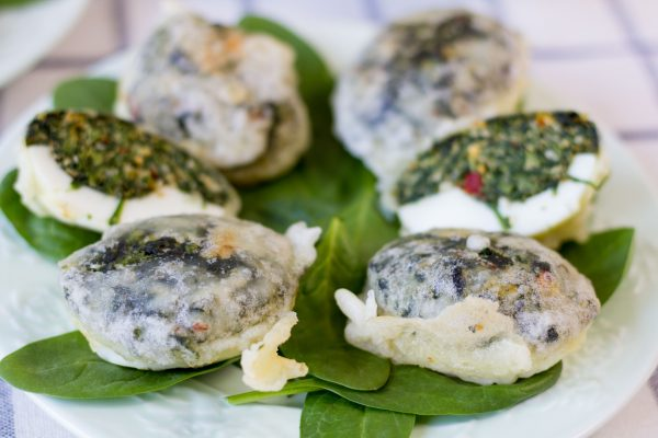 Eggs with spinach